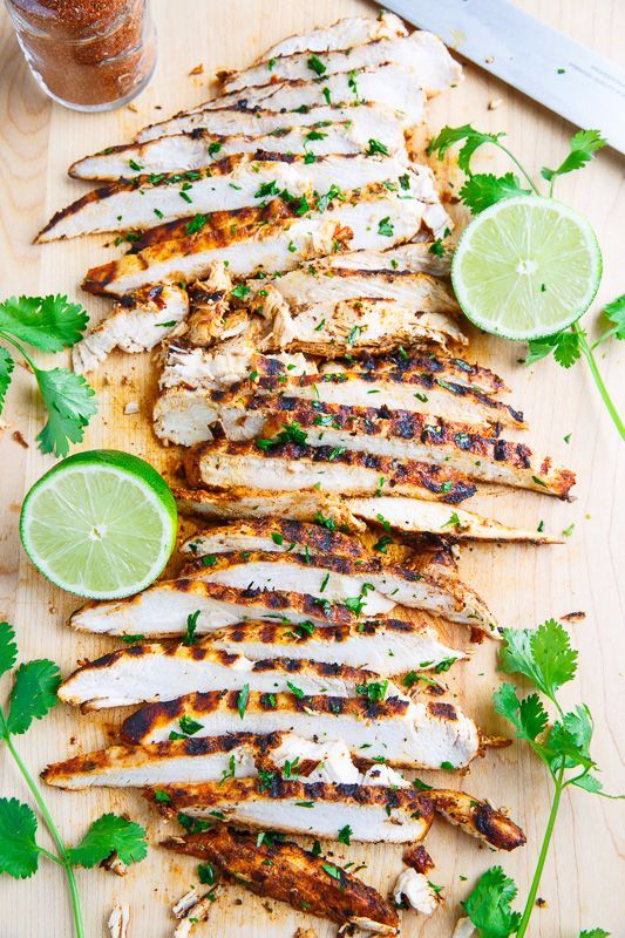 33 Easy Three Ingredient Recipes - Taco Lime Grilled Chicken - Quick And Healthy 3 Ingredients Recipe Ideas for Breakfast, Lunch, Dinner, Appetizers, Snacks and Desserts - Cookies, Chicken, Crockpot Ideas, Baking and Microwave Recipes and Tutorials #easyrecipes #quickrecipes