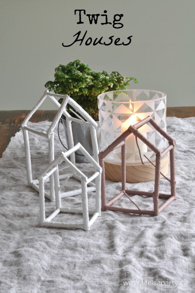 Quick Last Minute DIY Gifts You Can Make - Twig Houses - Easy and Quick Last Minute DIY Gift Ideas for Mom, Dad, Him or Her, Freinds, Teens, Kids, Girls and Boys. Fast Crafts and Fun Ideas in A Jar, Birthday Presents - Step by Step Tutorials #diygifts #xmas #christmasgifts #quickgifts