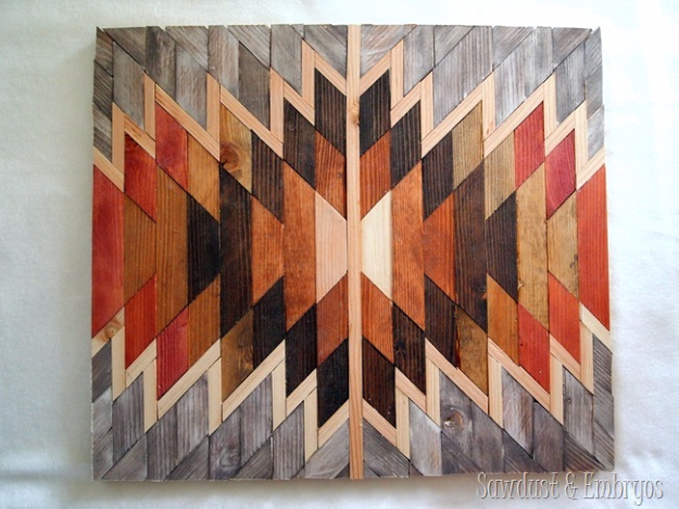 DIY Wall Art Ideas for the Bedroom - Wooden Kilim Wall Art - Rustic Decorating Projects For Bedroom, Brilliant Wall Art Projects, Creative Wall Art, Do It Yourself Crafts, Easy Wall Art, Bedroom Decor on a Budget, Bedroom - Paintings, Canvas Art Ideas, Wall Hangings