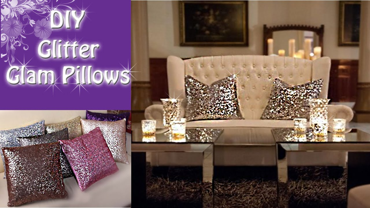 Bring Some Glitz And Shimmer To Your Decor With These Stunning Sequined Pillows