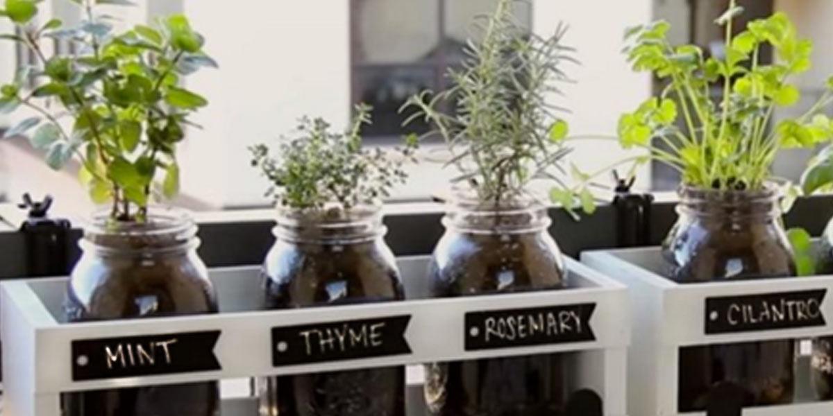 Best Gardening Ideas for Fall DIY Mason Jar Herb Garden Cool DIY Garden Ideas
