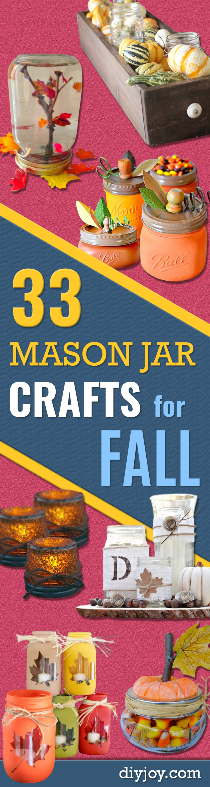 33 mason jar crafts for fall for Jar crafts for gifts