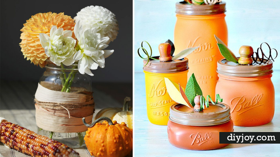 Mason Jar Decor Part - 45: 33 Mason Jar Crafts For Fall