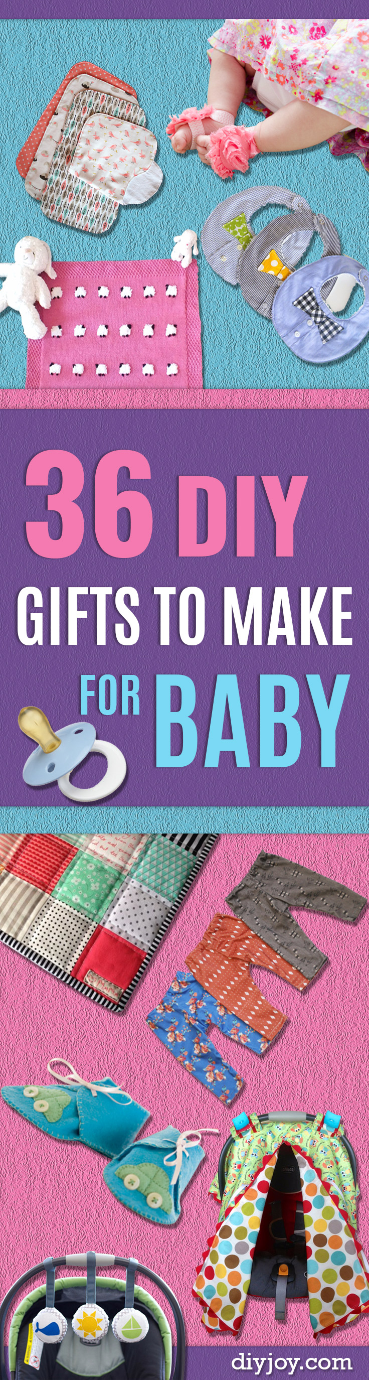 DIY Gifts for Babies - Best DIY Gift Ideas for Baby Boys and Girls - Creative Projects to Sew, Make and Sell, Gift Baskets, Diaper Cakes and Presents for Baby Showers and New Parents. Cool Christmas and Birthday Ideas