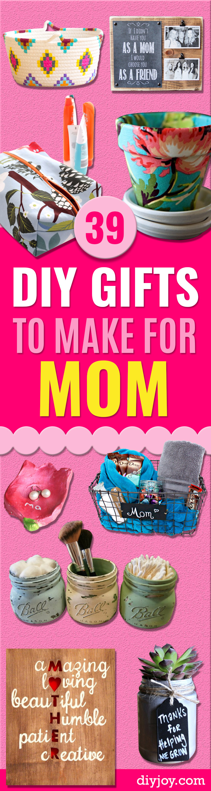 39 creative diy gifts to make for mom page 2 of 8 diy joy Christmas ideas for mothers