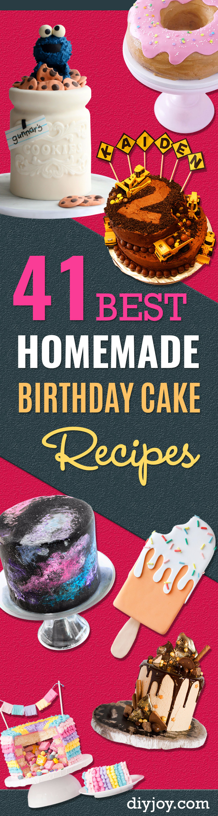 how to make a homemade birthday cake from scratch