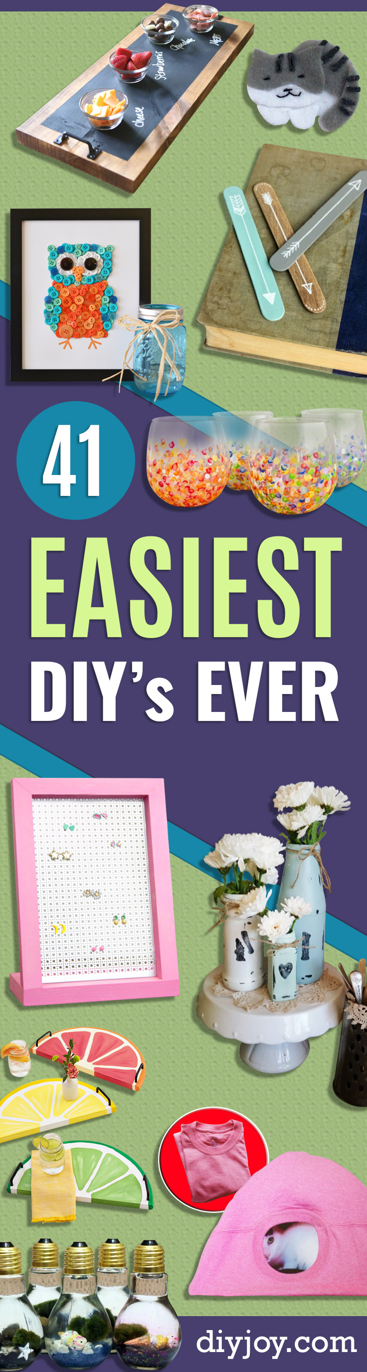 41 Of The Easiest Diys Ever Best Ideas For Crafts