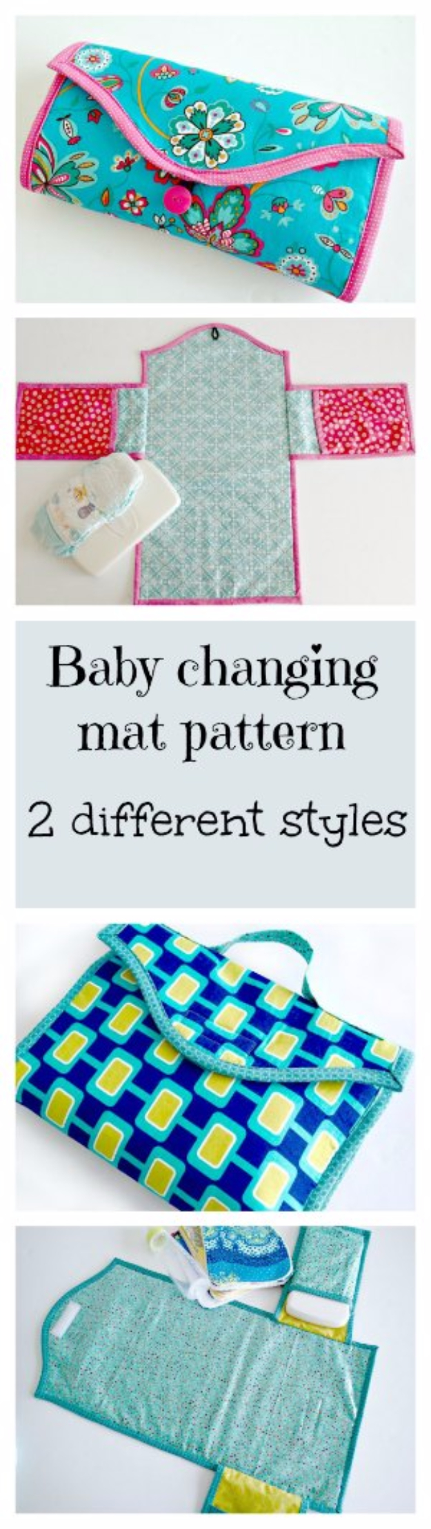 51 Things to Sew for Baby - Baby Changing Mat - Cool Gifts For Baby, Easy Things To Sew And Sell, Quick Things To Sew For Baby, Easy Baby Sewing Projects For Beginners, Baby Items To Sew And Sell #baby #diy #diygifts