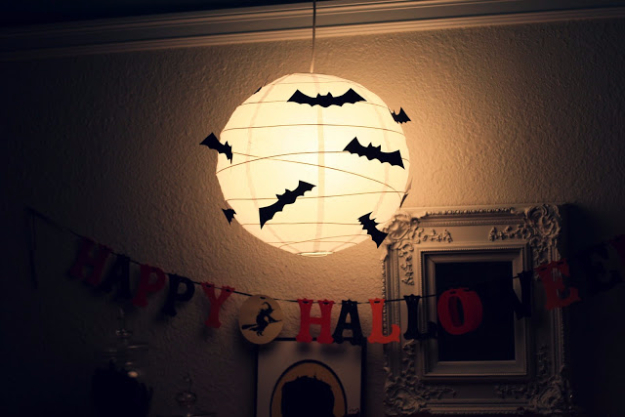 DIY Halloween Decorations - Bat Lantern - Best Easy, Cheap and Quick Halloween Decor Ideas and Crafts for Inside and Outside Your Home - Scary, Creepy Cute and Fun Outdoor Project Tutorials http://diyjoy.com/cheap-diy-halloween-decorations