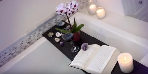 She Makes A Bath Tub Shelf For Relaxation And Enjoyment Easy And Cheap!