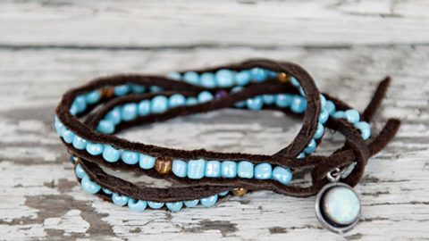 She Shows Us How To Make This Fabulous Beaded Leather Bracelet That's So The Rage! | DIY Joy Projects and Crafts Ideas