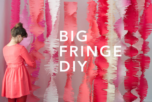 39 Easy DIY Party Decorations - Big Fringe Garlands - Quick And Cheap Party Decors, Easy Ideas For DIY Party Decor, Birthday Decorations, Budget Do It Yourself Party Decorations #diyparties #party #partydecor #parties