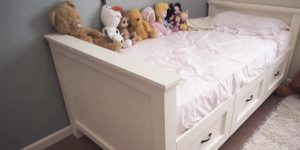 He Makes a Valuable Bed For His Little Girl…She's One Happy Camper! (Great For Dorm's  Too!)