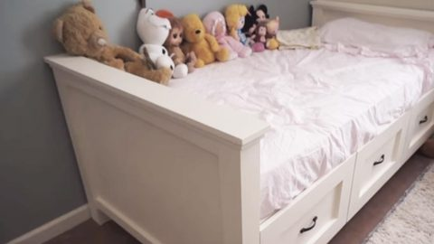He Makes a Valuable Bed For His Little Girl…She's One Happy Camper! (Great For Dorm's  Too!) | DIY Joy Projects and Crafts Ideas