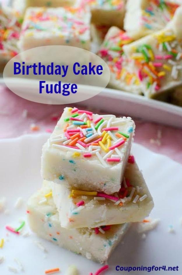 41 Best Homemade Birthday Cake Recipes - Birthday Cake Fudge - Birthday Cake Recipes From Scratch, Delicious Birthday Cake Recipes To Make, Quick And Easy Birthday Cake Recipes, Awesome Birthday Cake Ideas http://diyjoy.com/best-birthday-cake-recipes