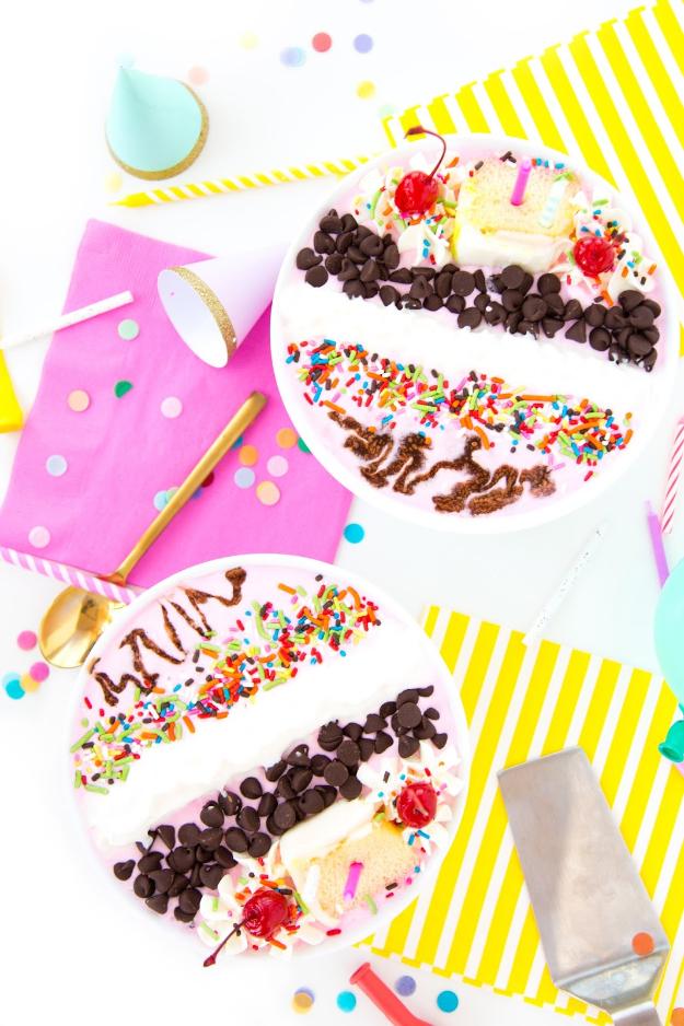 41 Best Homemade Birthday Cake Recipes - Birthday Cake Milkshake Bowl - Birthday Cake Recipes From Scratch, Delicious Birthday Cake Recipes To Make, Quick And Easy Birthday Cake Recipes, Awesome Birthday Cake Ideas http://diyjoy.com/best-birthday-cake-recipes
