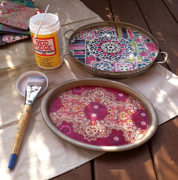 42 DIY Room Decor for Girls - Bohemian Inspired Trays - Awesome Do It Yourself Room Decor For Girls, Room Decorating Ideas, Creative Room Decor For Girls, Bedroom Accessories, Cute Room Decor For Girls