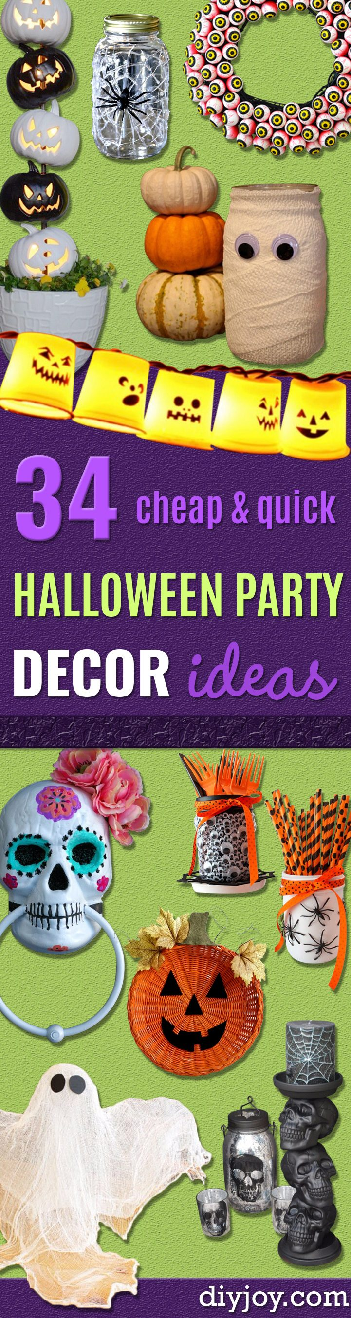 34 Inexpensive DIY Halloween Party Decor Ideas