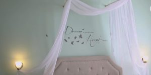 She Creates A Romantic Canopy Easily And Changes The Whole Look Of Her Room!
