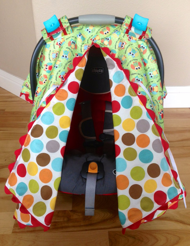 DIY Gifts for Babies - Car Seat Canopy - Best DIY Gift Ideas for Baby Boys and Girls - Creative Projects to Sew, Make and Sell, Gift Baskets, Diaper Cakes and Presents for Baby Showers and New Parents. Cool Christmas and Birthday Ideas #diy #babygifts #diygifts #baby