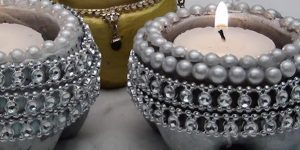 Watch How She Creates These Stunning Cement Candle Holders (Easy And Quick!)