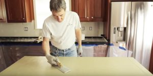 Watch How He Upgrades His Ugly Countertops With This Easy and Cheap Solution!