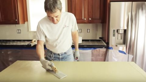 Watch How He Upgrades His Ugly Countertops With This Easy and Cheap Solution! | DIY Joy Projects and Crafts Ideas