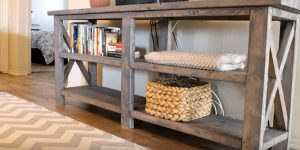 This Amazing Rustic Console Table Definitely Belongs On Your Weekend Project List