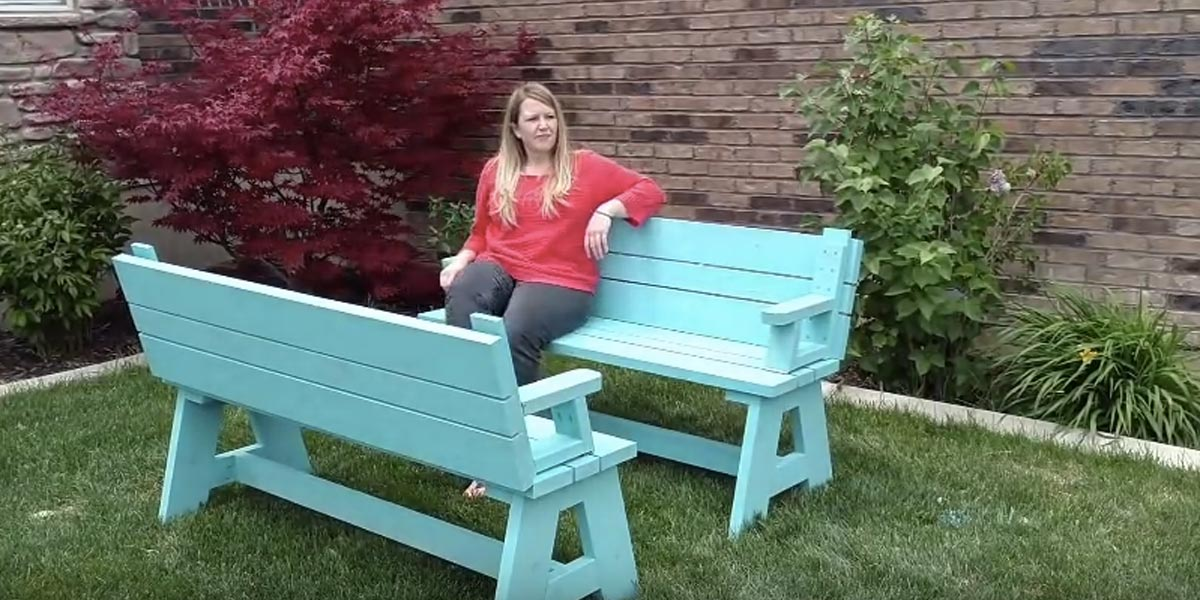 They Make Convertible Benches So Watch What They Turn Them Into Brilliant Diy Joy