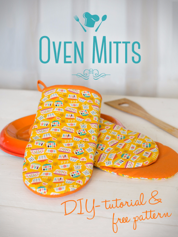 Quick DIY Gifts You Can Sew - Cute Oven Mitts - Best Sewing Projects for Gift Giving and Simple Handmade Presents - Free Sewing Patterns Easy #sewing #diygifts