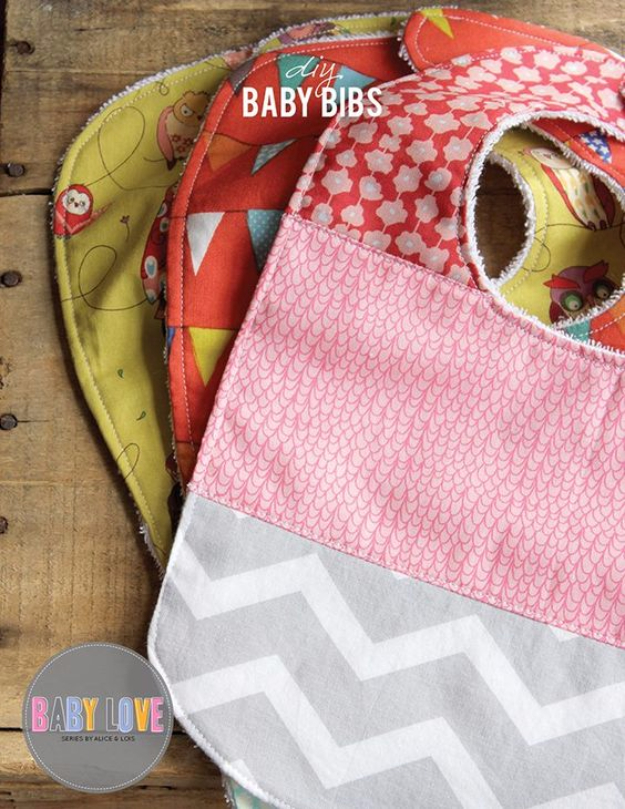51 Things to Sew for Baby - DIY Baby Bibs - Cool Gifts For Baby, Easy Things To Sew And Sell, Quick Things To Sew For Baby, Easy Baby Sewing Projects For Beginners, Baby Items To Sew And Sell #baby #diy #diygifts