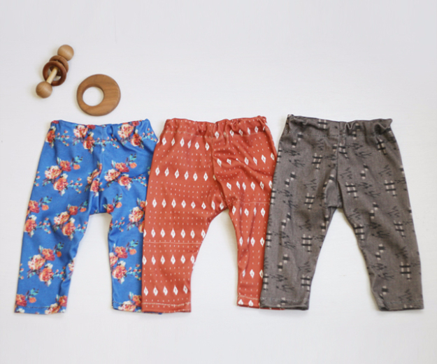 DIY Gifts for Babies - DIY Baby Leggings - Best DIY Gift Ideas for Baby Boys and Girls - Creative Projects to Sew, Make and Sell, Gift Baskets, Diaper Cakes and Presents for Baby Showers and New Parents. Cool Christmas and Birthday Ideas #diy #babygifts #diygifts #baby