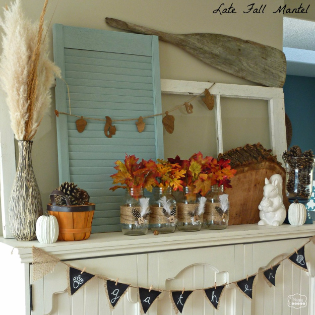 40 Nature Inspired Fall Decorating Ideas And Easy Diy Decor: 33 Mason Jar Crafts For Fall