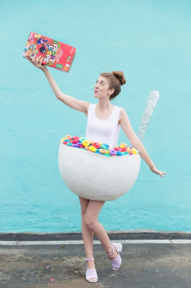 Best DIY Halloween Costume Ideas - DIY Cereal Bowl Costume - Do It Yourself Costumes for Women, Men, Teens, Adults and Couples. Fun, Easy, Clever, Cheap and Creative Costumes That Will Win The Contest http://diyjoy.com/best-diy-halloween-costumes