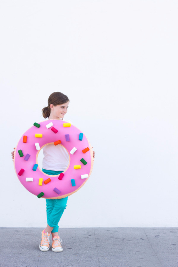 Best DIY Halloween Costume Ideas - DIY Donut Costume - Do It Yourself Costumes for Women, Men, Teens, Adults and Couples. Fun, Easy, Clever, Cheap and Creative Costumes That Will Win The Contest http://diyjoy.com/best-diy-halloween-costumes