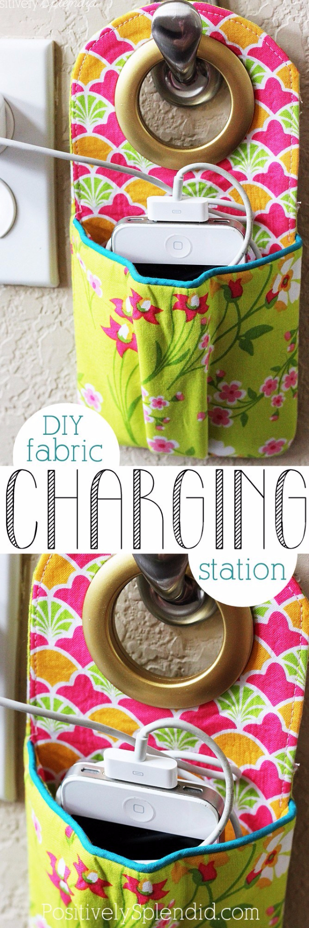 Quick DIY Gifts You Can Sew - DIY Fabric Charging Station - Best Sewing Projects for Gift Giving and Simple Handmade Presents - Free Patterns and Easy Step by Step Tutorials for Home Decor, Baby, Women, Kids, Men, Girls http://diyjoy.com/quick-diy-gifts-sew