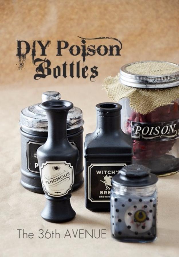 diy halloween decorations diy halloween poison bottles best easy cheap and quick halloween - Cheap Halloween Decorations Outdoor