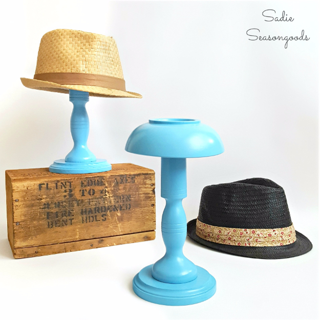 DIY Projects With Old Plates and Dishes - DIY Hat Stands - Creative Home Decor for Rustic, Vintage and Farmhouse Looks. Upcycle With These Best Crafts and Project Tutorials #diy #kitchen #crafts