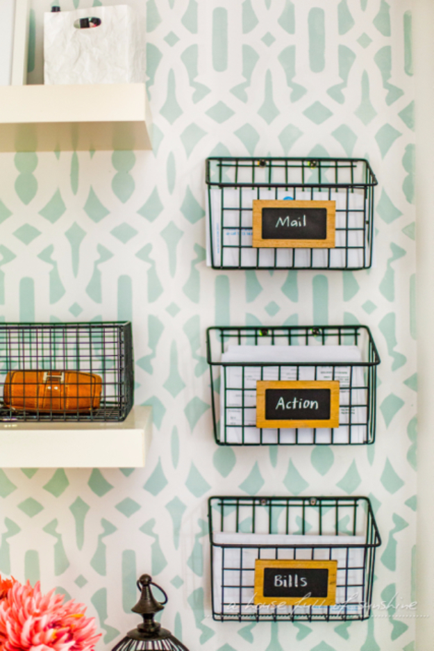 33 Cool DIYs With Spray Paint - DIY Industrial Wire Baskets - Easy Spray Paint Decor, Fun Do It Yourself Spray Paint Ideas, Cool Spray Paint Projects To Try, Upcycled And Repurposed, Restore Old Items With Spray Paint