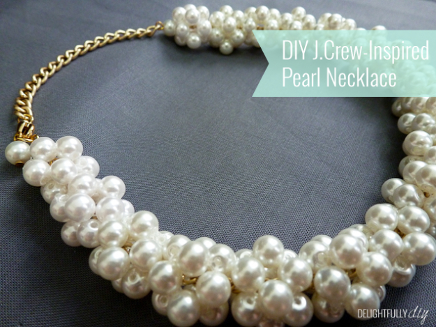 DIY Gifts for Mom - DIY J.Crew-Inspired Pearl Necklace - Best Craft Projects and Gift Ideas You Can Make for Your Mother - Last Minute Presents for Birthday and Christmas - Creative Photo Projects, Bath Ideas, Gift Baskets and Thoughtful Things to Give Mothers and Moms #diygifts #giftsformom