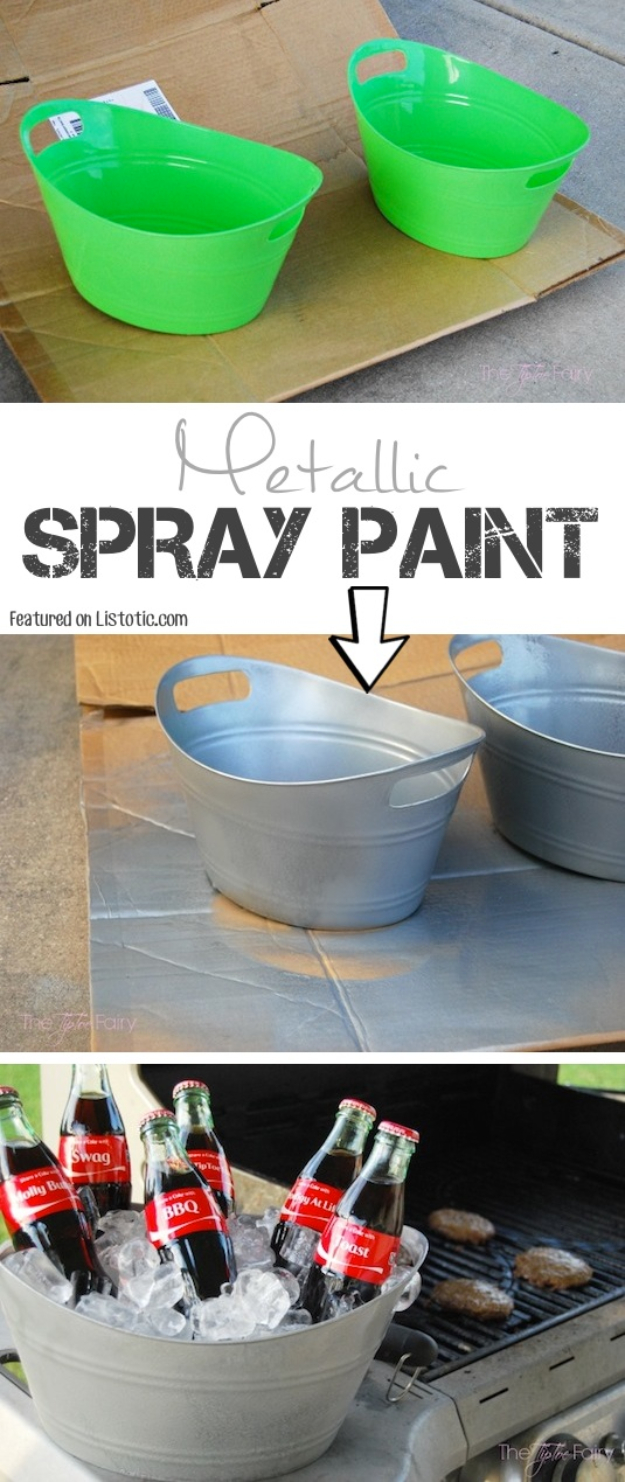 33 Cool DIYs With Spray Paint - DIY Mini Galvanized Tubs - Easy Spray Paint Decor, Fun Do It Yourself Spray Paint Ideas, Cool Spray Paint Projects To Try, Upcycled And Repurposed, Restore Old Items With Spray Paint