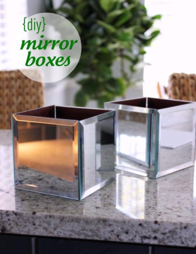 Easy Dollar Store Crafts - DIY Mirror Boxes - Quick And Cheap Crafts To Make, Dollar Store Craft Ideas To Make And Sell, Cute Dollar Store Do It Yourself Projects, Cheap Craft Ideas, Dollar Sore Decor,