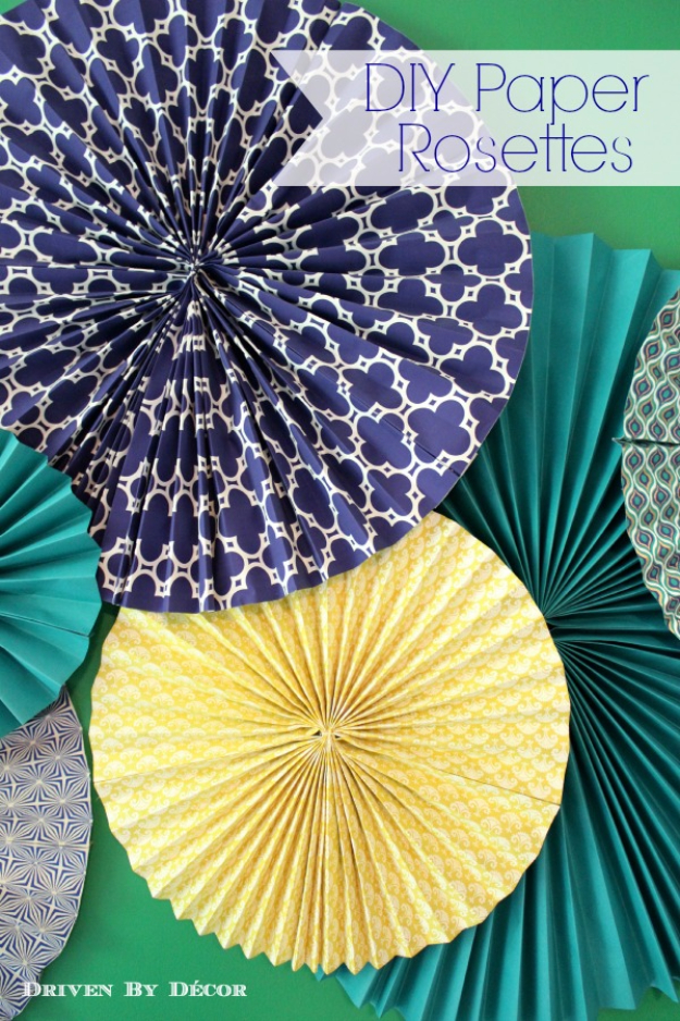 39 Easy DIY Party Decorations - DIY Paper Rosettes - Quick And Cheap Party Decors, Easy Ideas For DIY Party Decor, Birthday Decorations, Budget Do It Yourself Party Decorations http://diyjoy.com/easy-diy-party-decorations
