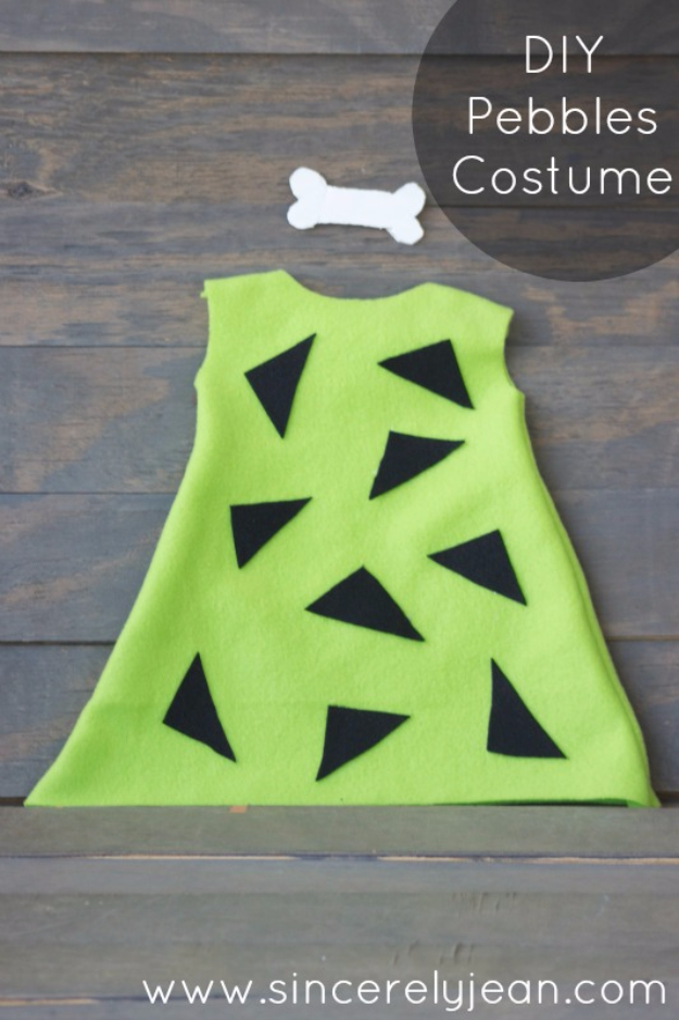Best DIY Halloween Costume Ideas - DIY Pebbles Costume - Do It Yourself Costumes for Women, Men, Teens, Adults and Couples. Fun, Easy, Clever, Cheap and Creative Costumes That Will Win The Contest