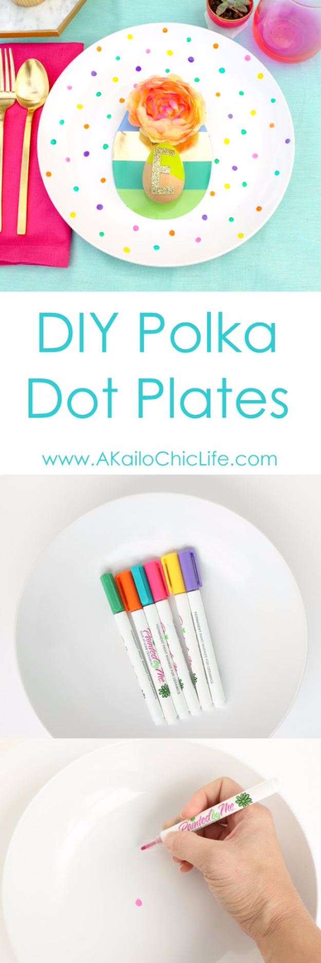 DIY Projects With Old Plates and Dishes - DIY Polka Dot Plates - Creative Home Decor for Rustic, Vintage and Farmhouse Looks. Upcycle With These Best Crafts and Project Tutorials #diy #kitchen #crafts
