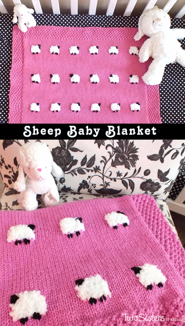 DIY Gifts for Babies - DIY Sheep Baby Blanket - Best DIY Gift Ideas for Baby Boys and Girls - Creative Projects to Sew, Make and Sell, Gift Baskets, Diaper Cakes and Presents for Baby Showers and New Parents. Cool Christmas and Birthday Ideas #diy #babygifts #diygifts #baby