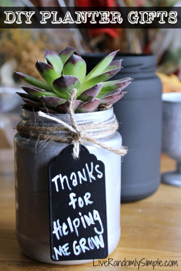 DIY Gifts for Mom - DIY Succulent Mason Jar Gift - Best Craft Projects and Gift Ideas You Can Make for Your Mother - Last Minute Presents for Birthday and Christmas - Creative Photo Projects, Bath Ideas, Gift Baskets and Thoughtful Things to Give Mothers and Moms #diygifts #giftsformom