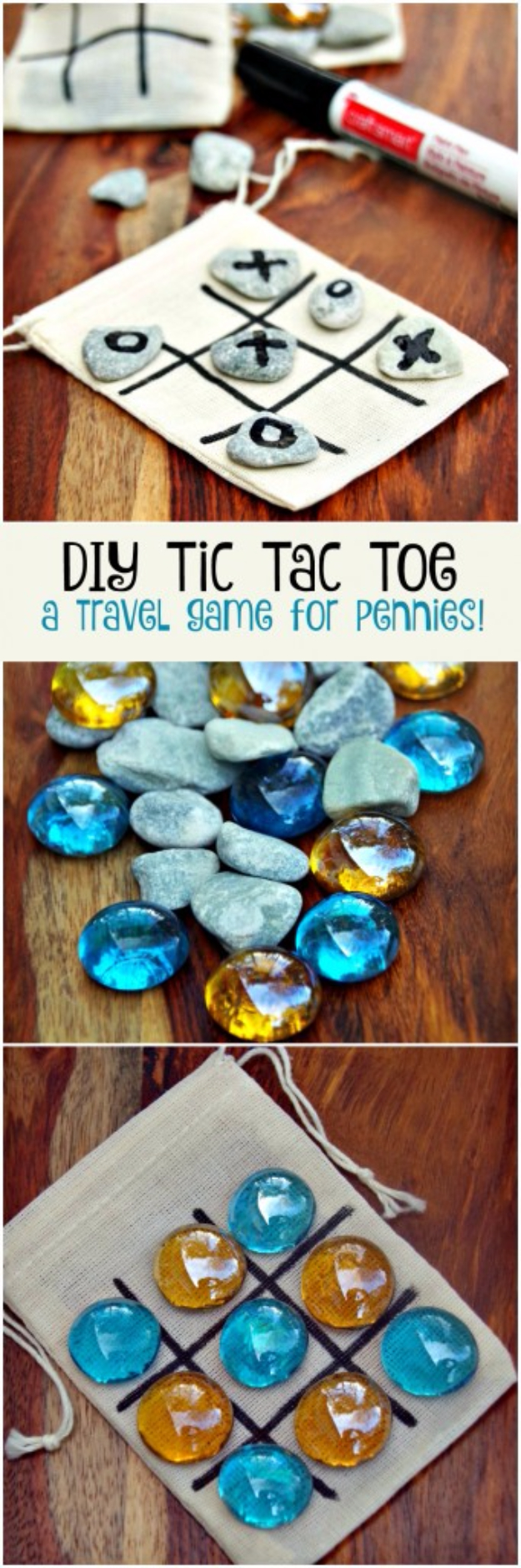 Easy Dollar Store Crafts - DIY Tic Tac Toe Game Board - Quick And Cheap Crafts To Make, Dollar Store Craft Ideas To Make And Sell, Cute Dollar Store Do It Yourself Projects, Cheap Craft Ideas, Dollar store Decor,