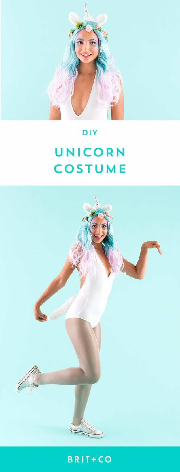 Best DIY Halloween Costume Ideas - DIY Unicorn Costume - Do It Yourself Costumes for Women, Men, Teens, Adults and Couples. Fun, Easy, Clever, Cheap and Creative Costumes That Will Win The Contest