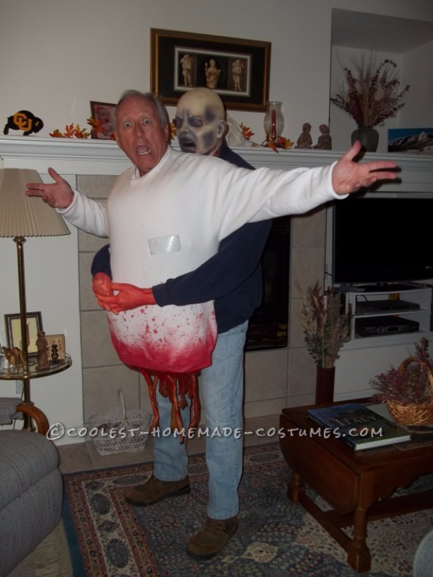 Best DIY Halloween Costume Ideas - DIY Zombie Victim Illusion Costume - Do It Yourself Costumes for Women, Men, Teens, Adults and Couples. Fun, Easy, Clever, Cheap and Creative Costumes That Will Win The Contest